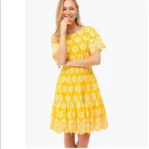NWTTory Burch SUNLIGHT FIT & FLARE DRESS 6 yellow